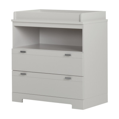 Changing Table with Storage Reevo (Soft Gray)